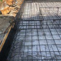 基礎 配筋工事:耐圧打設工事