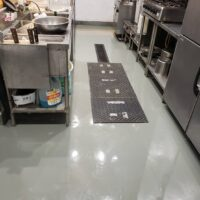 店舗厨房土間防水工事